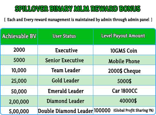 MLM Scripts  Spillover Binary Plan Software spilover binary mlm plan 4